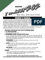 Pioneer 202 Metal Detector