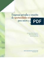 Empresas privadas y creación de oportunidades economicas para mypymes