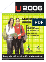 2007 Demre 27 Muestra Preguntas Lenguaje Matematica