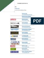 Nombres de Revistas Periodicos Nombres Animales Lugares