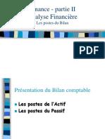 Bilan, Les Postes