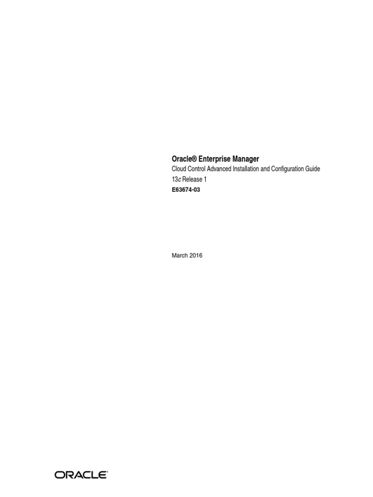 Em13cR1_AdvanacedInstallGuide_EMADV | Oracle Database | Cloud Computing