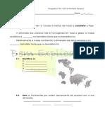 A.4.1 Ficha de Trabalho Continentes e Oceanos 1