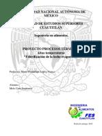 ESTERILIZACION DE LECHE EVAPORADA