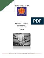 Relatório Contas 2017