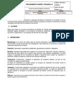 Procedimiento Diseño y Desarrollo para Industrias de Servicios