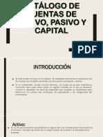 Catálogo de Cuentas de Activo, Pasivo y capital