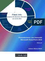 Presentaciones Uso Avanzado Microsoft PowerPoint 2010 Manual