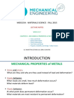 Chapter 8 - Mechanical Properties of Metals - Week 6&7