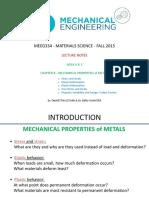 Chapter 8 - Mechanical Properties of Metals - Week 6&7