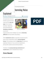 Transformer Humming Noise Explained