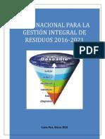 Plan Nacional Gestion Integral Residuos Mayo 2016 (1)