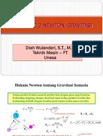 11. Hukum Ke 2 Newton, Gravitasi