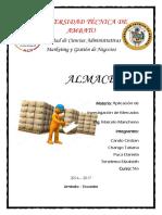 Clasificación de Almacenes 5B