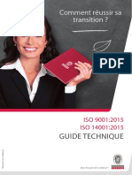 Guide technique ISO 9001/14001 version 2015 SGC