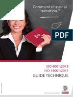 Guide technique ISO 9001/14001 version 2015 SGC