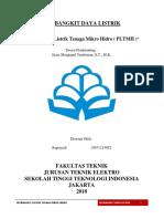 Makalah Pembangkit Listrik Tenaga Mikro Hidro ( PLTMH )
