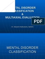 Mental Disorder Classification & Multi Axial Evaluation