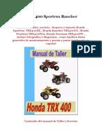 Honda TRX 400 Sportrax Rancher Foreman