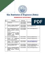 Enquiry Details MembershipDept