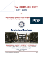 AdmissionBrochure(MET) 2018