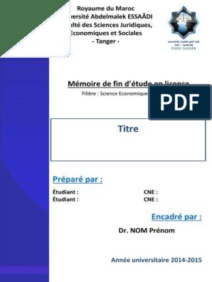 Page De Garde Mémoire Fsjest Mode 1