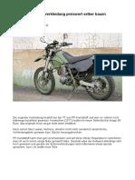 Verkleidung Selber Bauen, Yamaha TT600e