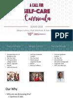 self-care presentation seaho 2018