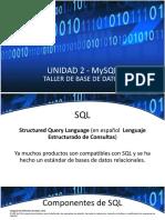 Unidad 2. Manipulacion de Datos SQL