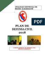 Plan de Defensa Civil 2018