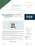 Comando CHKDSK_ Escanear y Reparar Disco Duro Windows 10, 8, 7 - Solvetic