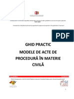 Ghid Practicieni Revizuit -Modele de Acte Procedurale in Materie Civila