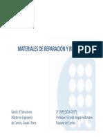 2016-17 Materiales de Reparacion y Refuerzo