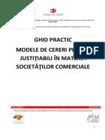 Ghid Justitiabili Revizuit -Modele de Cereri in Materia Societatilor Comerciale