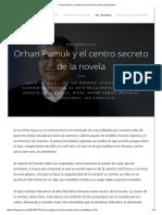 Orhan Pamuk y El Centro Secreto de La Novela _ Isaí Moreno