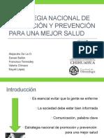 Estrategia Nacional de Promoción y Prevención Para Una