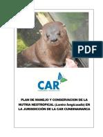 Plan de Manejo y Conservacion de Nutria de Rio Final