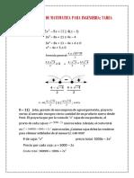 Complemento de Matematica Para Ingenieria Tarea