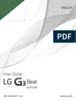 LG G3 Beat D722K Smart Phone Gold User Manual