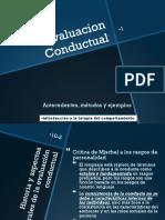 Evaluacion conductual antecedentes