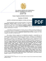 Sentencia de Antejuicio de Mérito Contra Nicolás Maduro Moros