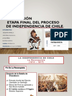 Grupo 4 Etapa final del proceso de independencia de Chile 8°A