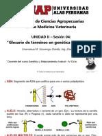 Unidad II 04 - Glosario de Términos en Genética Mendeliana