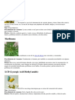 Drogas y Tipos de Drogas