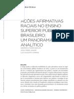 AÇÕES AFIRMATIVAS NO ENSINO SUPERIO PÚBLCO BRASILEIRO UM PANORAMA ANALÍTICO.pdf