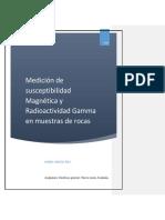 Medición de Susceptibilidad Magnética y Radioactividad Gamma en Muestras de Rocas Habid