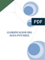 Clorificacion Del Agua Potable