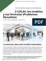 TEORÍA DE COLAS, los modelos y sus formulas (Problemas Resueltos).pdf