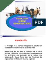 Fisiologia Animal - Generalidades - 2016