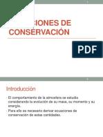 Clase 3 - Ecuaciones de Conservación